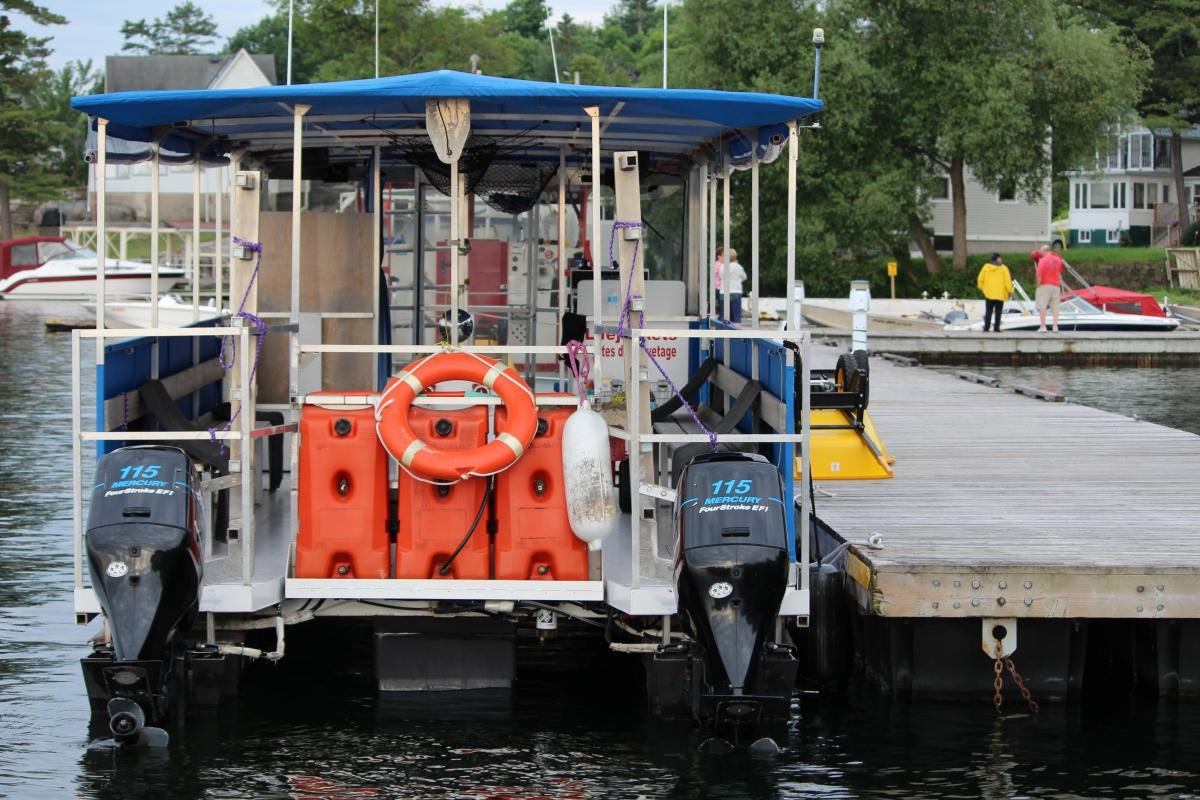 Helen Cooper's dive boat