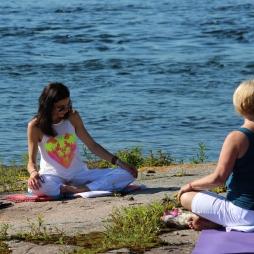 Tamara from Studio 44 Yoga Centre directs a meditation class