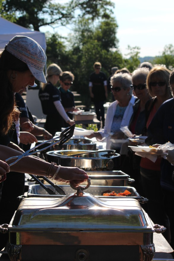 Serving Breakfast on Refugee Island