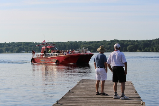 1000 Islands and Seaway Cruises Wildcat arrives on the island